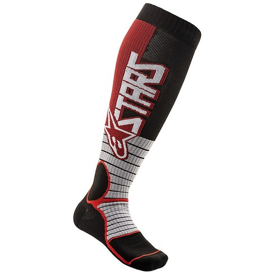 Calze Moto Cross Enduro Alpinestars MX20 MX PRO Socks Burgundy Nero