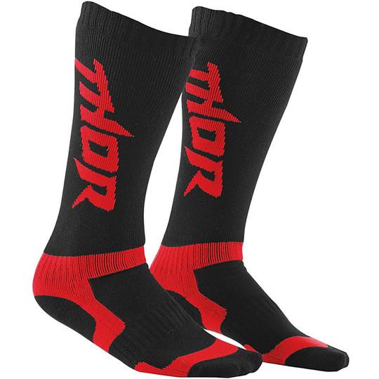Calze Moto Cross Enduro  Thor S15 Sock Nero Rosso