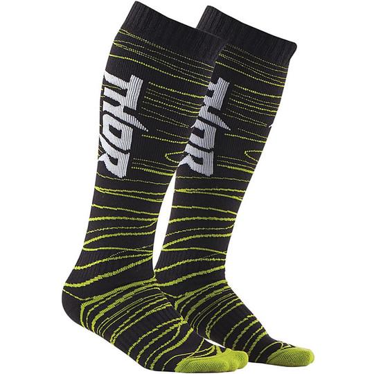 Calze Moto Cross Enduro  Thor S15 Sock Nero Verde