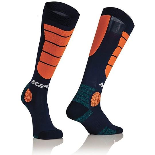 Calze Moto Tecniche Acerbis MX Impact Socks Blu Arancio