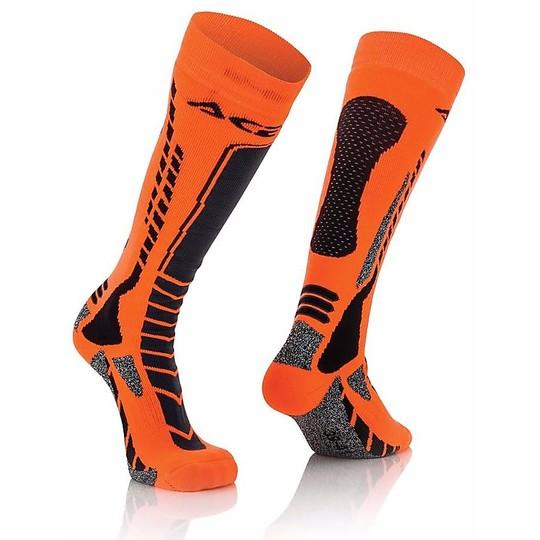 Calze Moto Tecniche Acerbis MX Pro Socks Nero Arancio Fluo