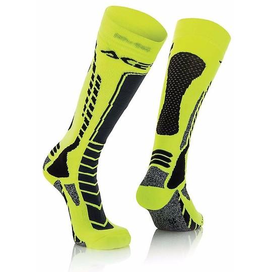 Calze Moto Tecniche Acerbis MX Pro Socks Nero Giallo Fluo