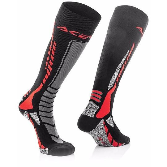 Calze Moto Tecniche Acerbis MX Pro Socks Nero Rosso