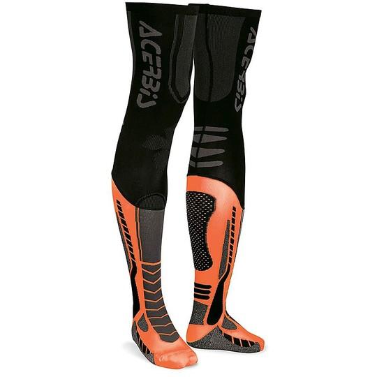 Calze Moto Tecniche Acerbis X-Leg pro Nero Arancio