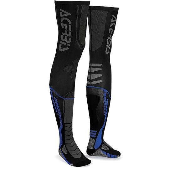 Calze Moto Tecniche Acerbis X-Leg pro Nero Blu