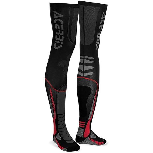 Calze Moto Tecniche Acerbis X-Leg pro Nero Rosso