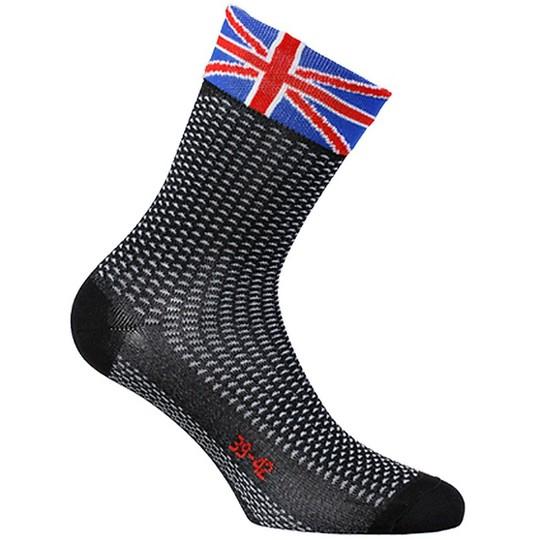 Calze Techine Corte in Tessuto Sixs SHORT Bandiera Gran Bretagna