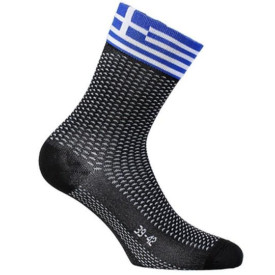 Calze Techine Corte in Tessuto Sixs SHORT Bandiera Grecia
