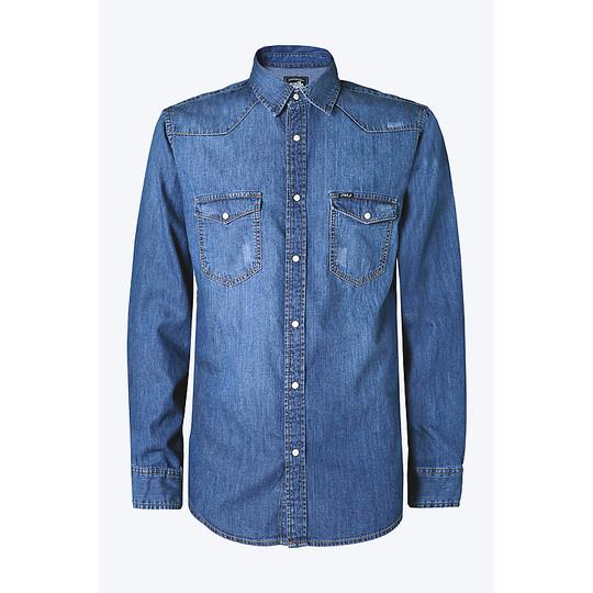 Camicia in Tessuto Denim PMJ Promo Jeans Denim Shirt