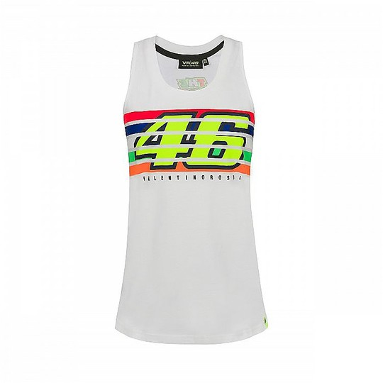 Canotta Donna VR46 Classic Collection Stripes Tank Pop