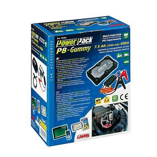 Caricabatteria Avviatore di Emergenza Moto Lampa 70164 P8-Gummy