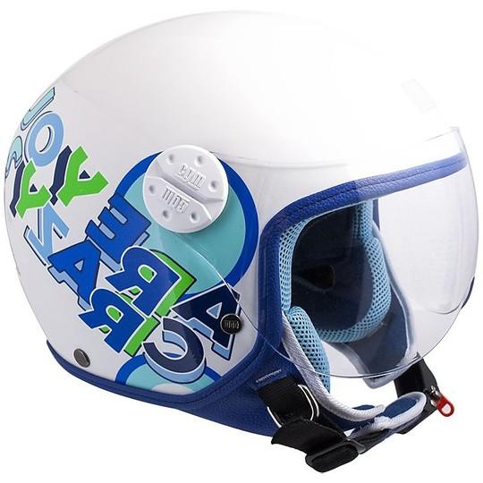 Casco Bambino Moto Jet CGM 205G Sport Azzurro