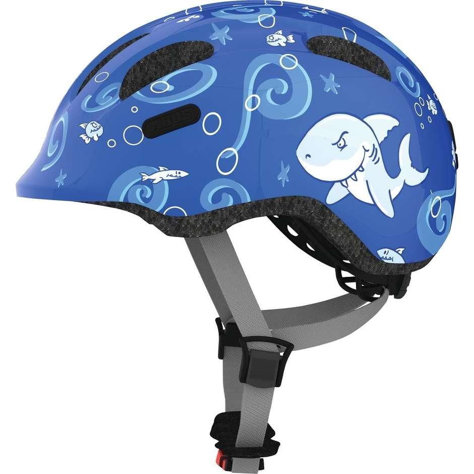 Casco Bici Abus da Bambino smiley 2.0 Blue Shark
