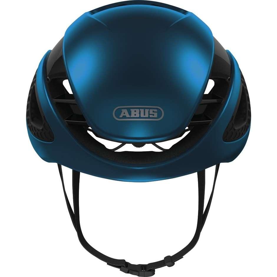 Casco Bici Abus Game Changer Professionistico Blu Cromo