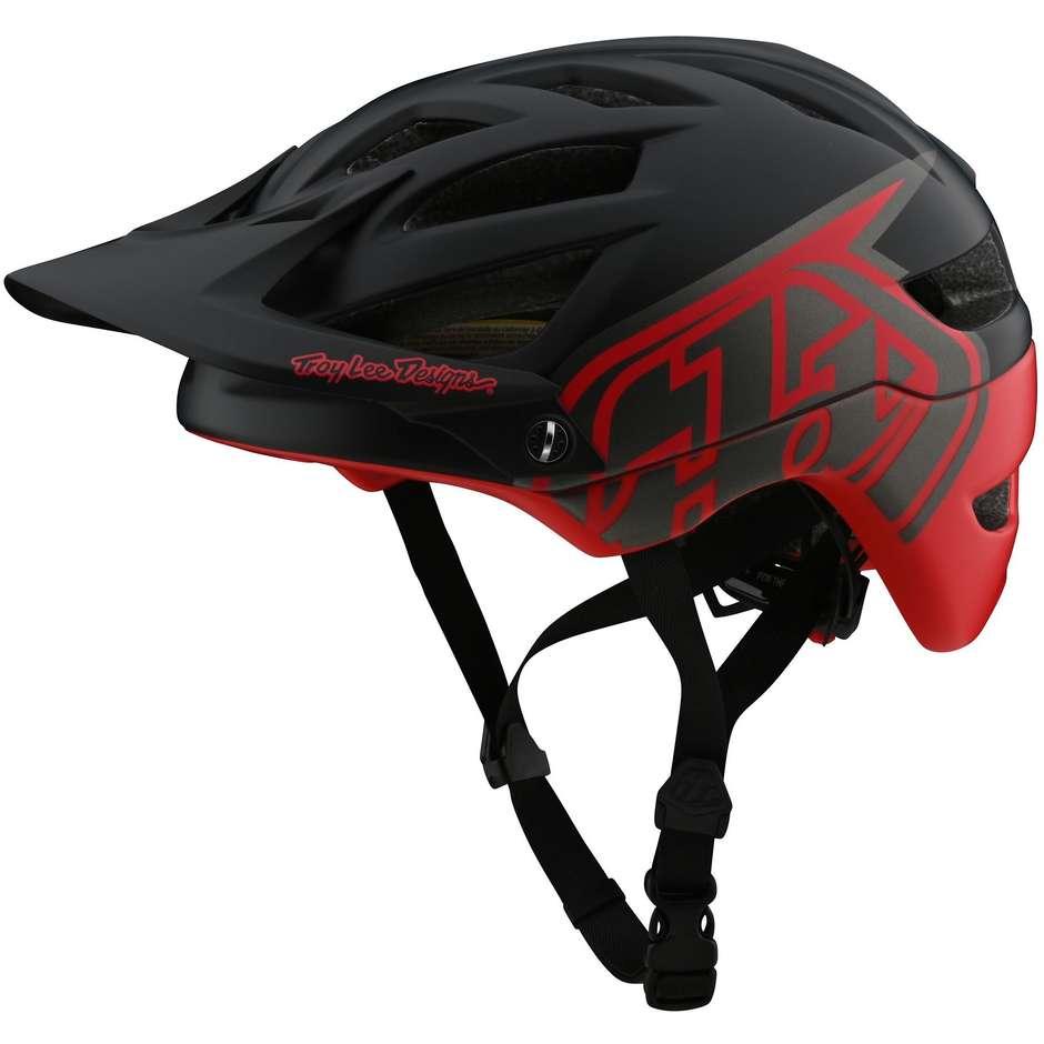 Casco Bici Troy Lee Designs A1 con MIPS CLASSIC Nero Rosso