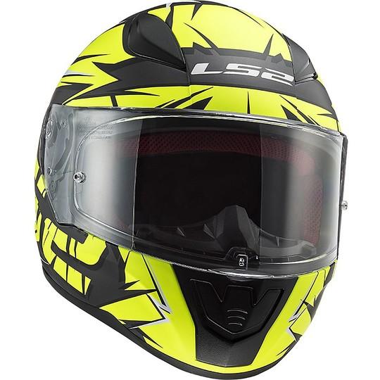 Casco Integrale Moto Ls2 FF353 RAPID Cromo Nero Opaco Giallo Fluo
