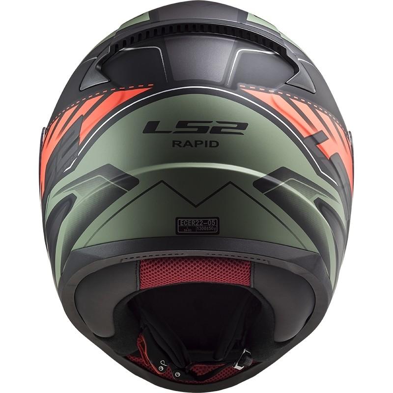 Casco Integrale Moto Ls2 FF353 Rapid GALE Nero Rosso Verde Opaco