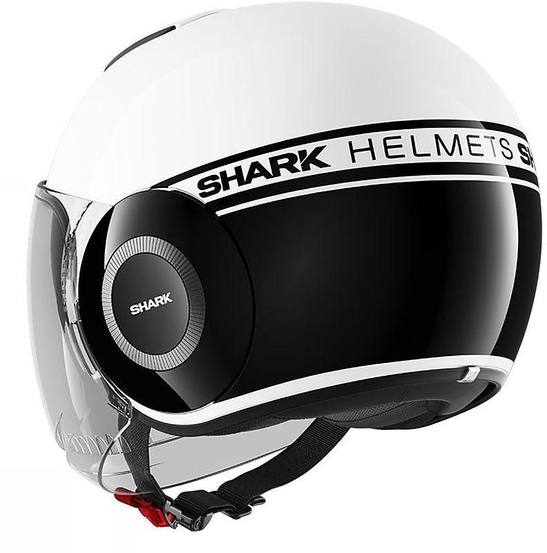 Bianco Shark Casco Jet Micro Taglia S