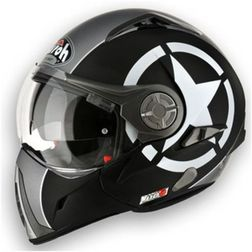 Casco Moto Apribile Airoh J106 Shot Black Matt Airoh