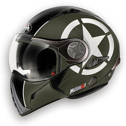 Casco Moto Apribile Airoh J106 Shot Green Matt Airoh