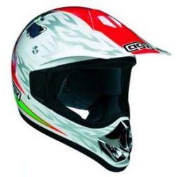 Casco Moto Cross Bambino AGV Rc5 Junior Colorazione Wolf Bianco Agv