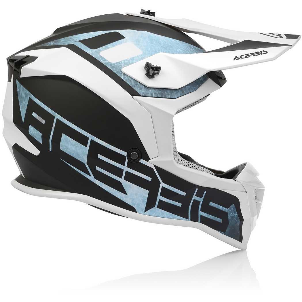 53//54 Acerbis Linear Casco Motocross Blu baby//Bianco XS