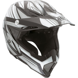 Casco Moto Cross Enduro AGV AX-8 FlagStar Nero/Gunmetal Agv