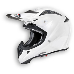Casco moto Cross Enduro Airoh Aviator 2.1 Color bianco lucido Airoh