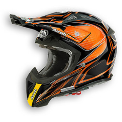 Casco moto Cross Enduro Airoh Aviator 2.1 Linear Bicolor Arancio Airoh