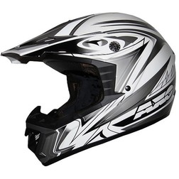 Casco Moto Cross Enduro Axo Modello  MX STORE Bianco Nero Axo