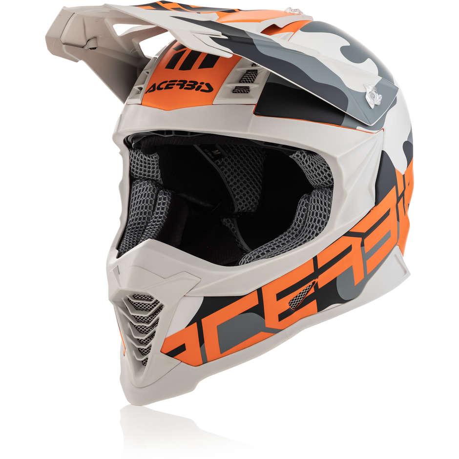 Casco Moto Cross Enduro In Fibra Acerbis X-RACER VTR Arancio Oro
