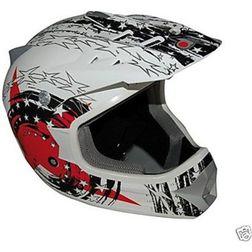 Casco Moto Cross Enduro One Racing  Falcon Bianco Rosso One