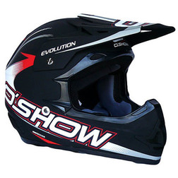 Casco Moto Cross Enduro O'Show Evolution Nero Opaco In Fibra Leggerissimo Fm racing
