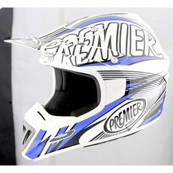 Casco Moto Cross Enduro Premier Predator in Fibra Tricomposita Blu TF1 Premier