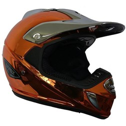 Casco Moto Cross Enduro Uvex Sx Factory Pilot Orange Cromo Vemar