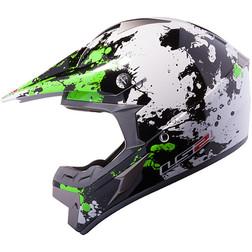 Casco moto cross LS2 MX433 Blast Bianco Verde Ls2