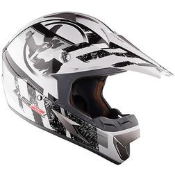 Casco moto cross LS2 MX433 Stripe Bianco Nero Ls2