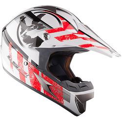 Casco moto cross LS2 MX433 Stripe Bianco Rosso Ls2