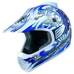Casco Moto Cross Marushin Xmr Pro In Fibra Colorazione Poizun Blu Marushin