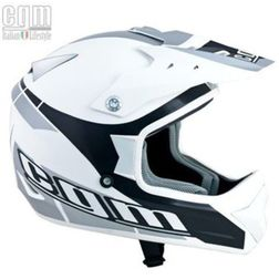 Casco Moto Cross Supermotard Cgm 603G AVES Bianco Lucido Cgm