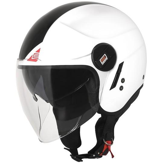 CASCO JET DEMI-JET VISIERA MOTO//SCOOTER ORIGINE ALPHA FLUO OMOLOGATO