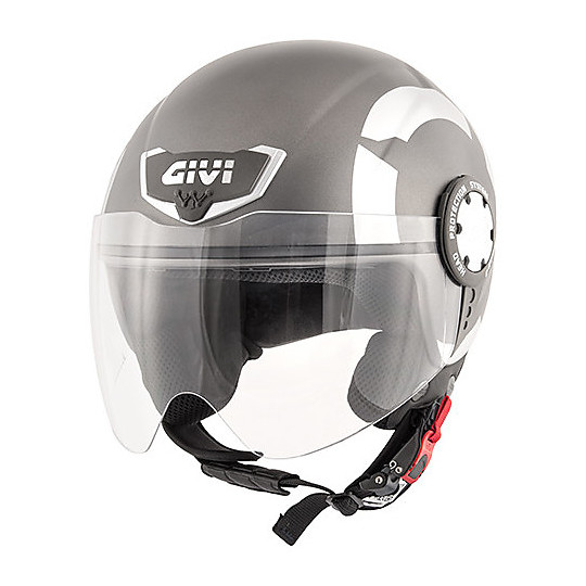 Casco Moto Demi-Jet Givi 10.4 Stark Titanio Opaco