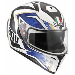 Casco Moto Inetgrale AGV K-3 SV Doppia Visiera Multi Vulcan Bianco Nero Blu Agv