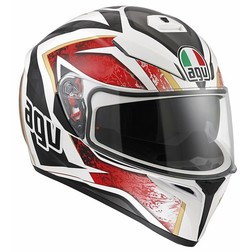 Casco Moto Inetgrale AGV K-3 SV Doppia Visiera Multi Vulcan Bianco Nero Rosso Agv