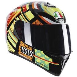 Casco Moto Inetgrale AGV K-3 SV Doppia Visiera Top Valentino Rossi Elements Agv