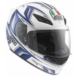 Casco Moto Integrale AGV In Fibra K-4 Multi Arrow Bianco-Blu Agv