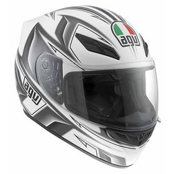 Casco Moto Integrale AGV In Fibra K-4 Multi Arrow Bianco-Gunmetal Agv