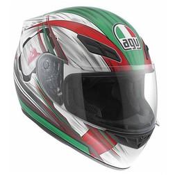 Casco Moto Integrale AGV In Fibra K-4 Multi Arrow Bianco-Rosso-Verde Agv