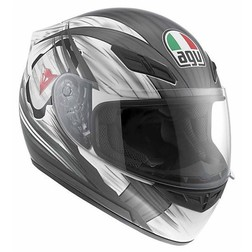 Casco Moto Integrale AGV In Fibra K-4 Multi Hang On Nero-Gunmetal Agv