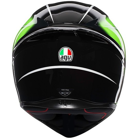 Casco Moto Integrale AGV K-1 Multi QUALIFY Nero Lime